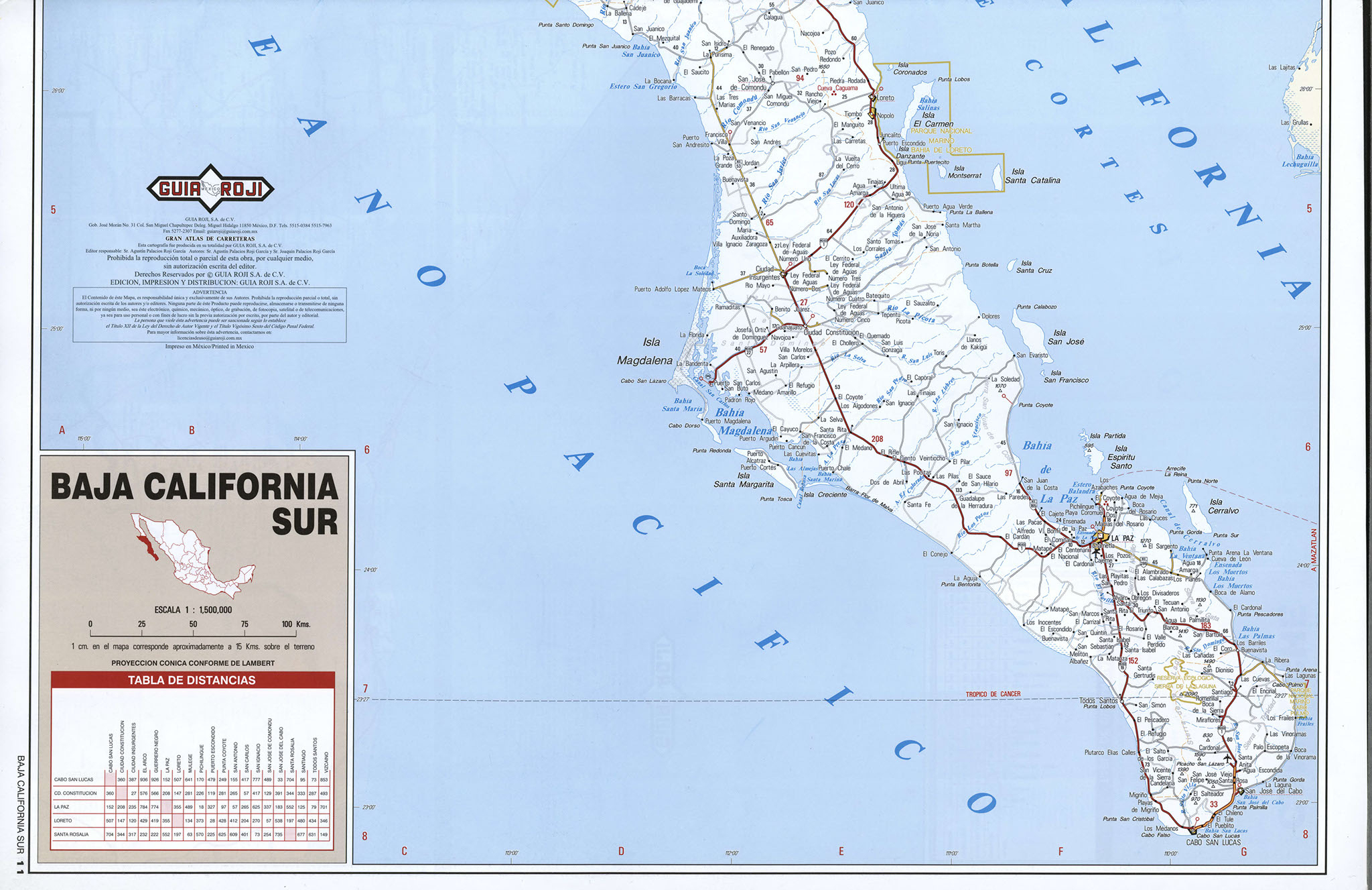Mex Labeled Map With Maps Of Baja California Mexico - Klipy - Baja California Road Map