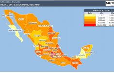 Mexico Heat Map Generator – Automatically Colored States In Excel – California Heat Map