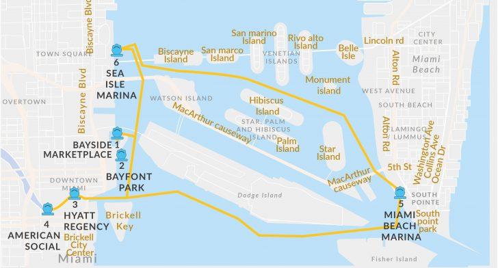 Miami Florida Cruise Port Map