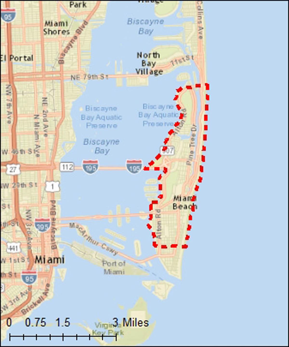 Miami Beach Map From Wallydogwear 9 - Ameliabd - Miami Florida Map