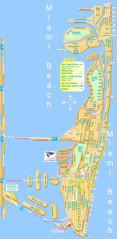 Miami Beach Map - Map Of Miami Beach (Florida - Usa) - Map Of Miami Beach Florida Hotels