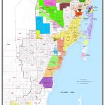 Miami Dade County Florida Zip Code And Municipalities Map   Map Of Dade County Florida