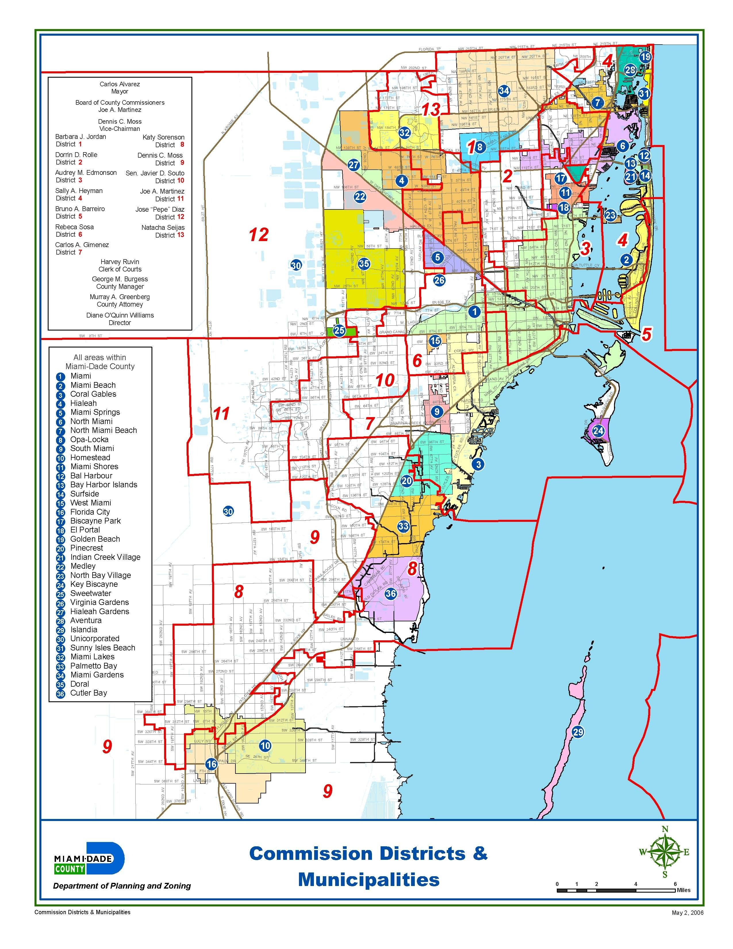 Miami-Dade Municipalities Map | Miami Real Estate Maps And Graphics - Map Of Dade County Florida