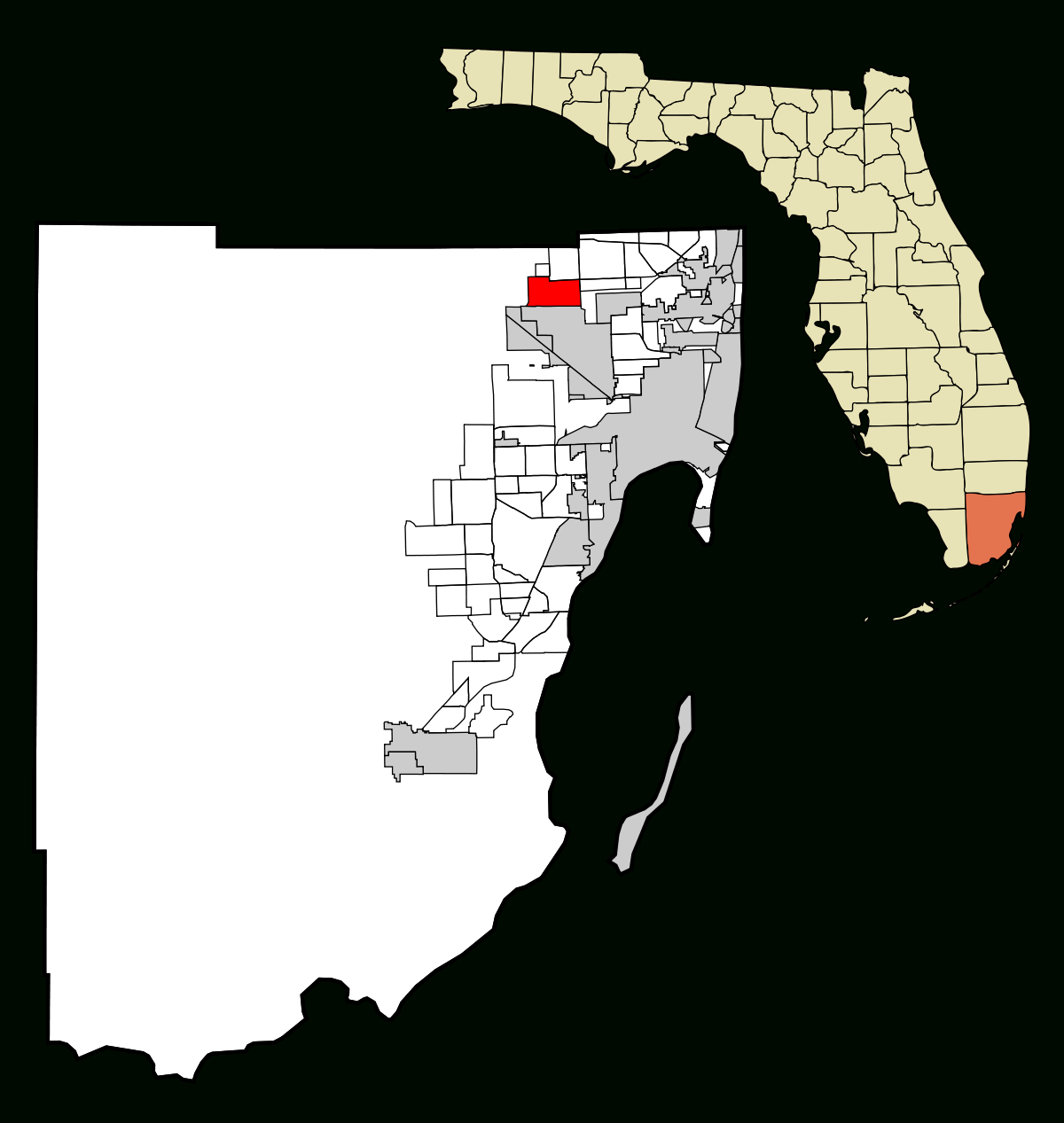 Miami Lakes, Florida - Wikipedia - Lauderdale Lakes Florida Map