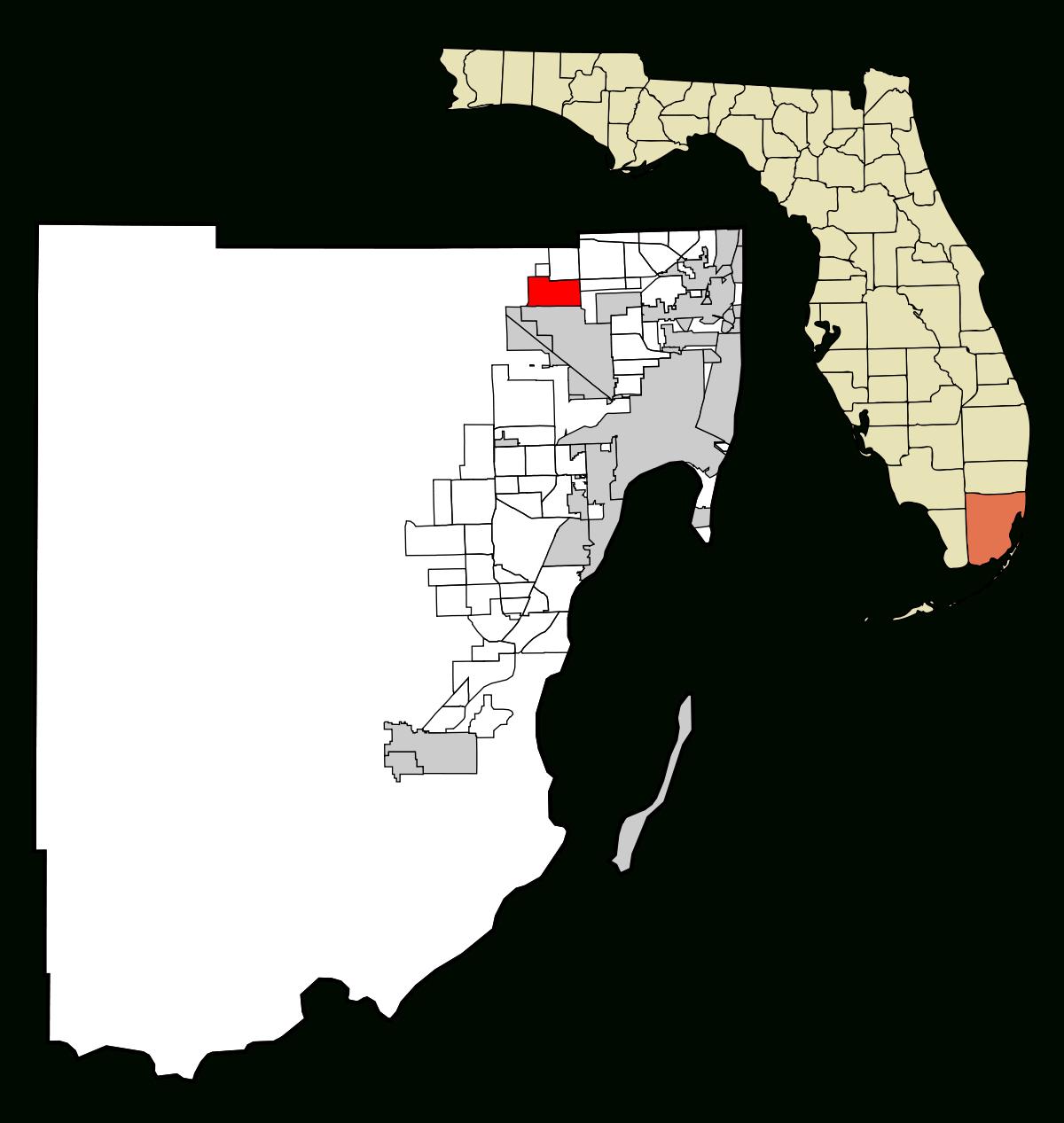 Miami Lakes, Florida - Wikipedia - Miami Lakes Florida Map