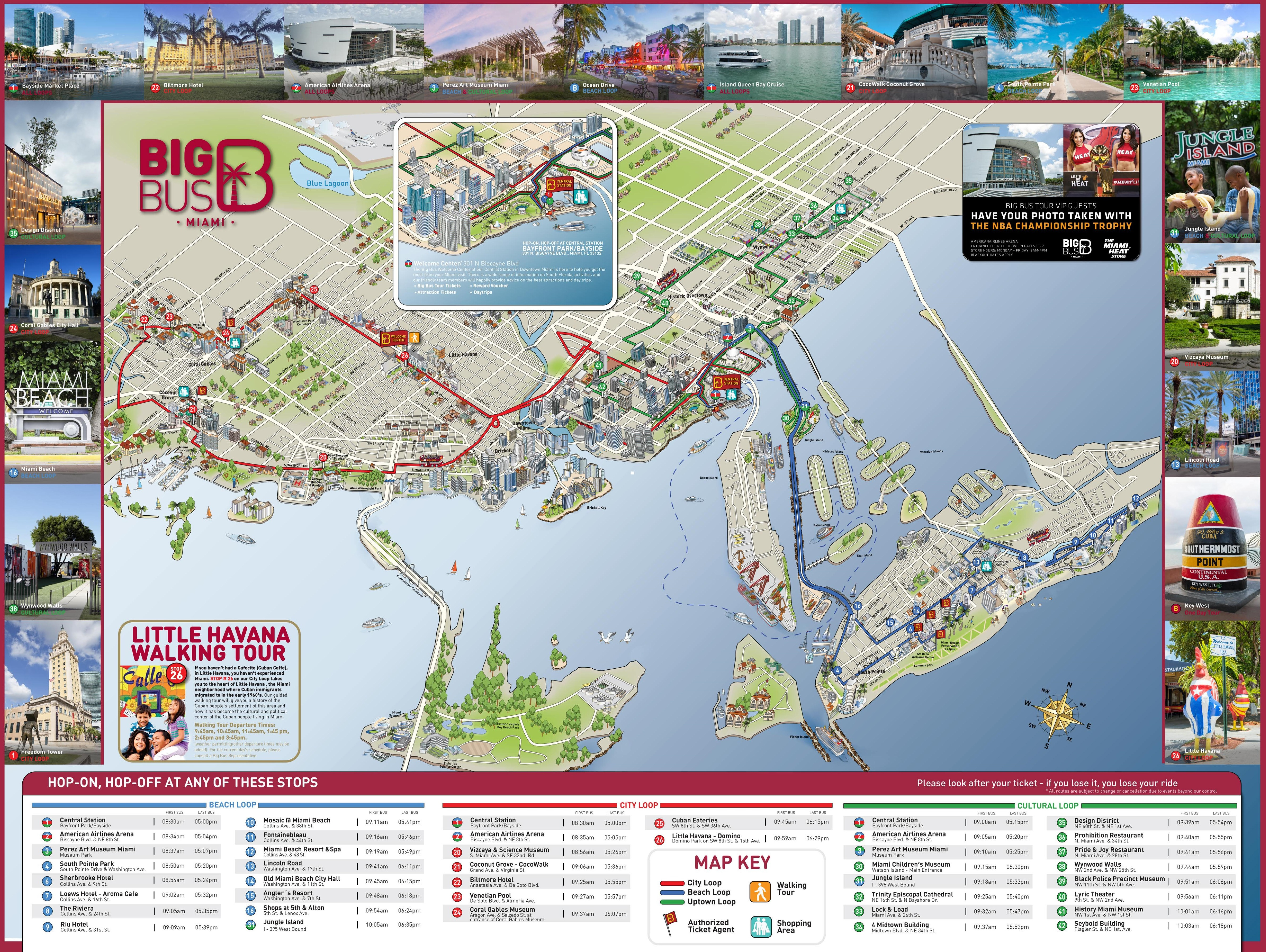 Miami Tourist Attractions Map - Florida Attractions Map