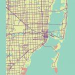 Miami, Usa Map Printrae Nordico #map #miami #florida | City Maps   Miami City Map Printable
