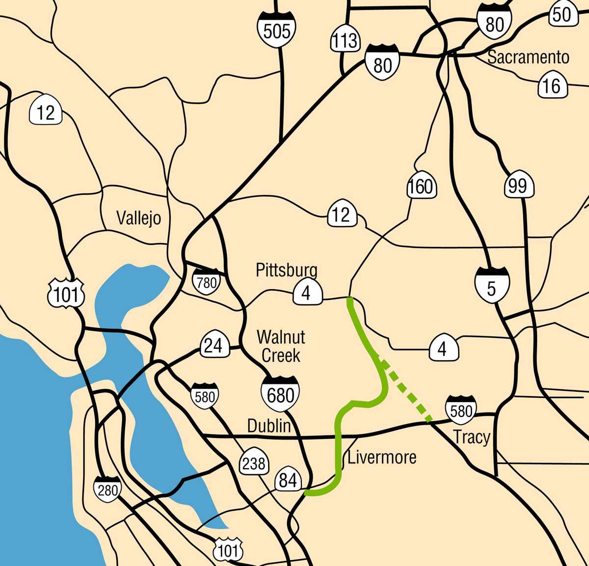 Mid-State Tollway - California Toll Roads Map