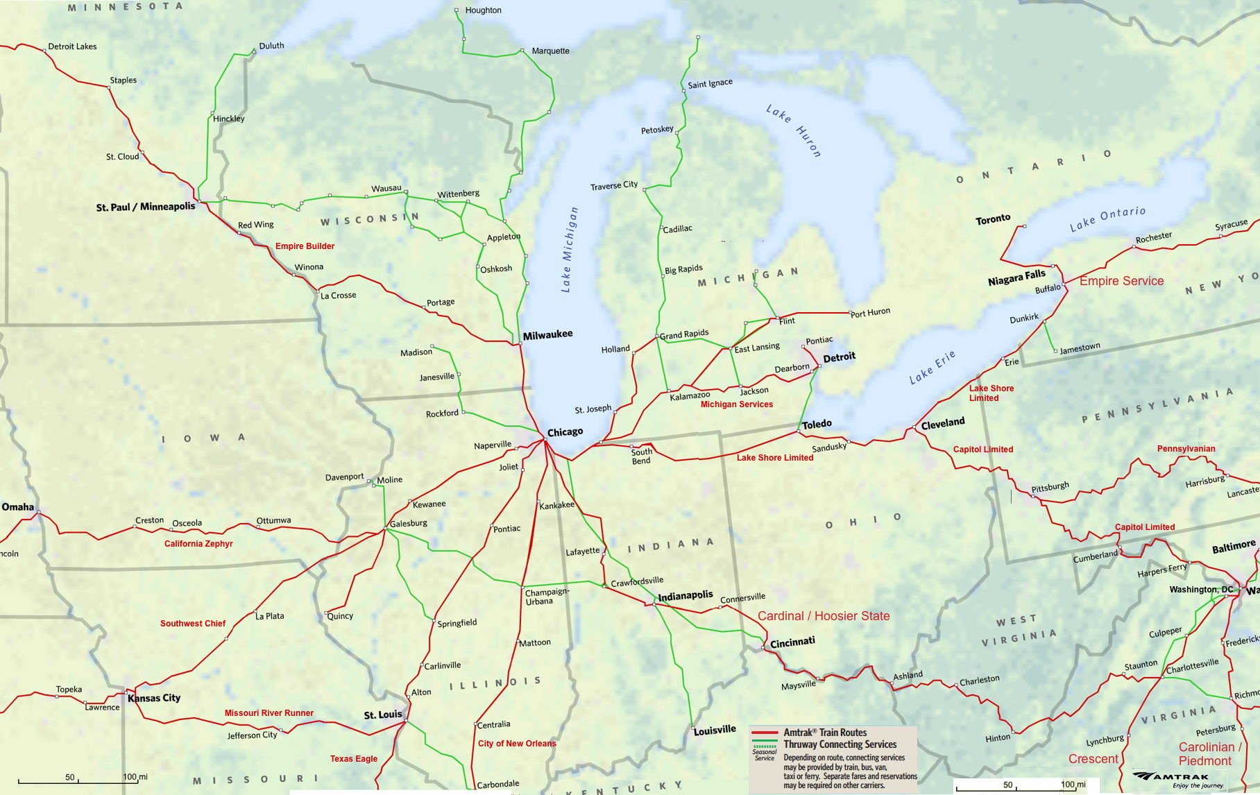 Midwest Amtrak Route Map - Amtrak Texas Eagle Route Map