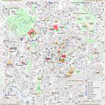 Milan Map   Central Milan Attractions Printable Map Showing Top 10   Printable Map Of Milan City Centre