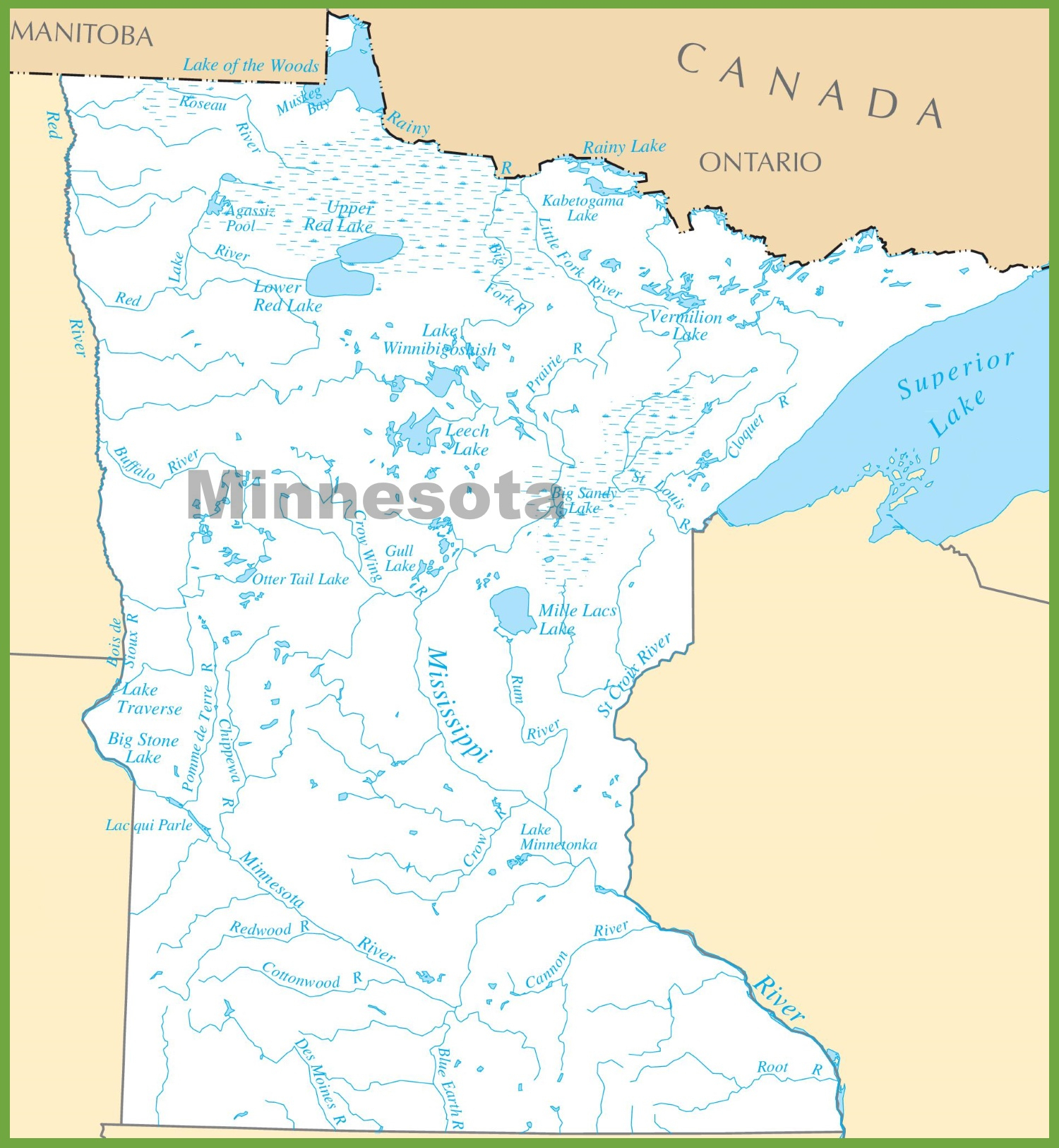 Minnesota State Maps | Usa | Maps Of Minnesota (Mn) - Printable Lake Minnetonka Map
