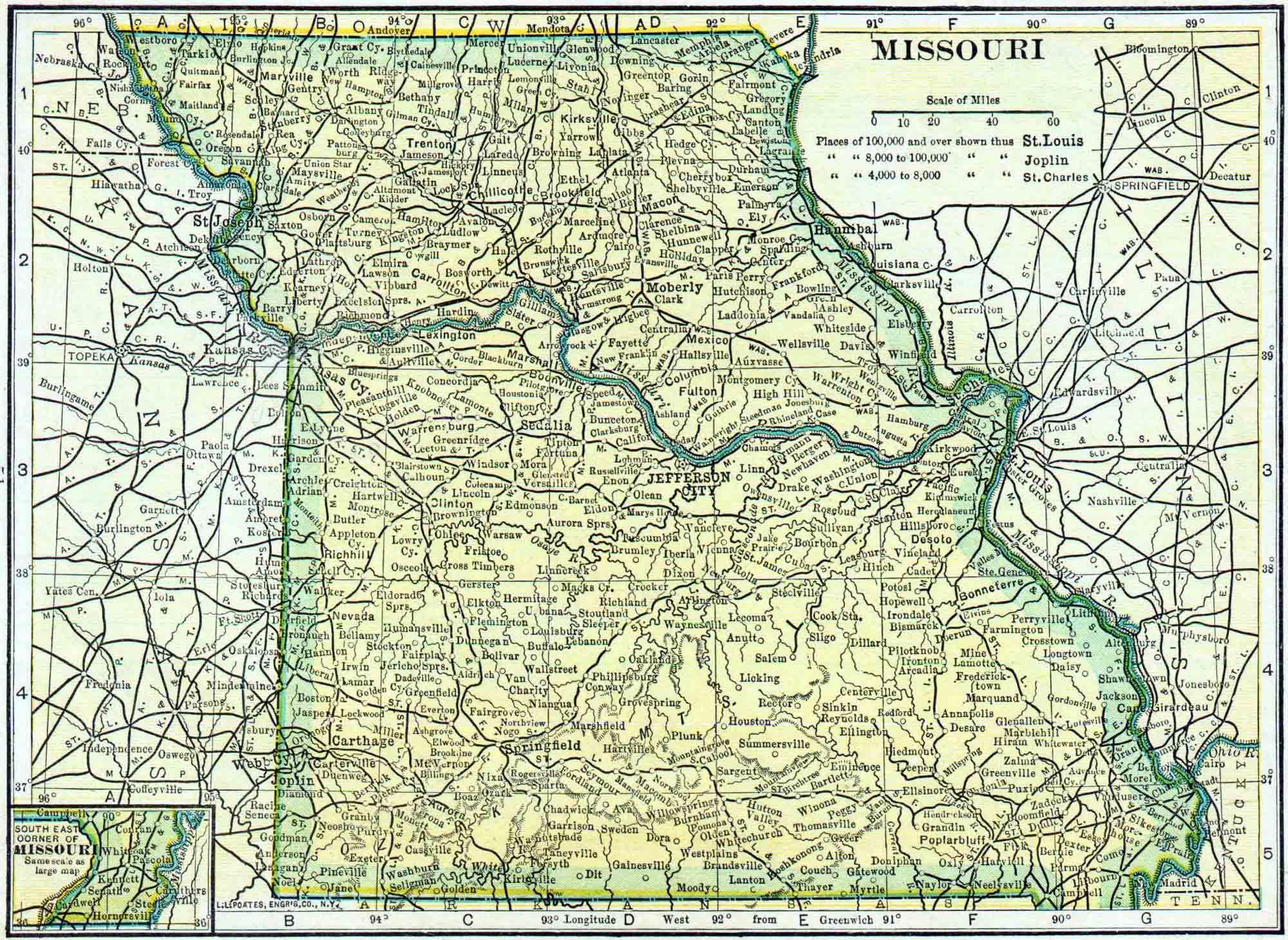 Missouri Genealogy - Free Missouri Genealogy   Access Genealogy - Texas County Missouri Plat Map