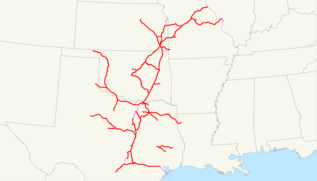 Missouri–Kansas–Texas Railroad - Wikipedia - Katy Texas Map