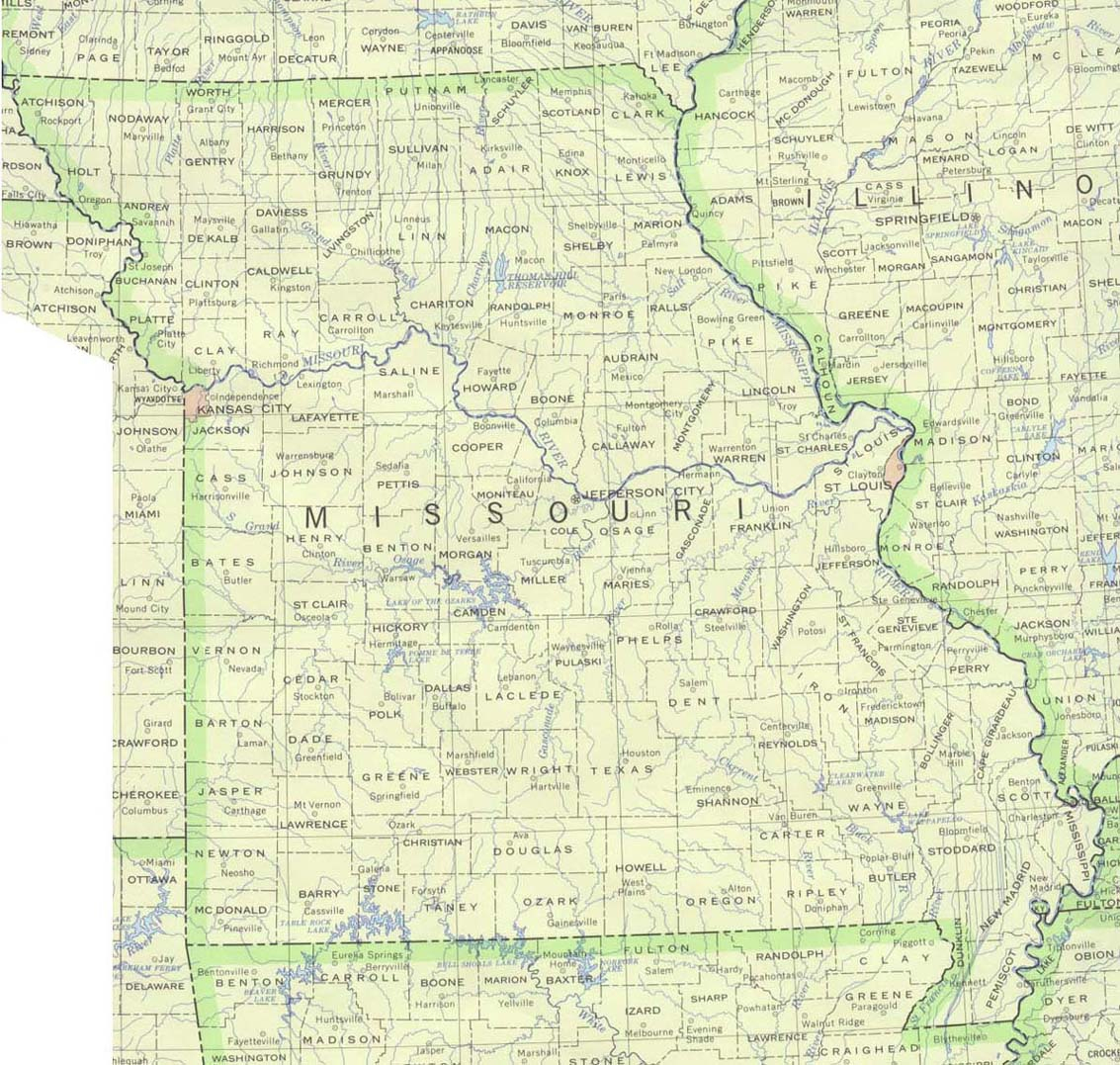 Missouri Maps - Perry-Castañeda Map Collection - Ut Library Online - Printable Map Of Springfield Mo