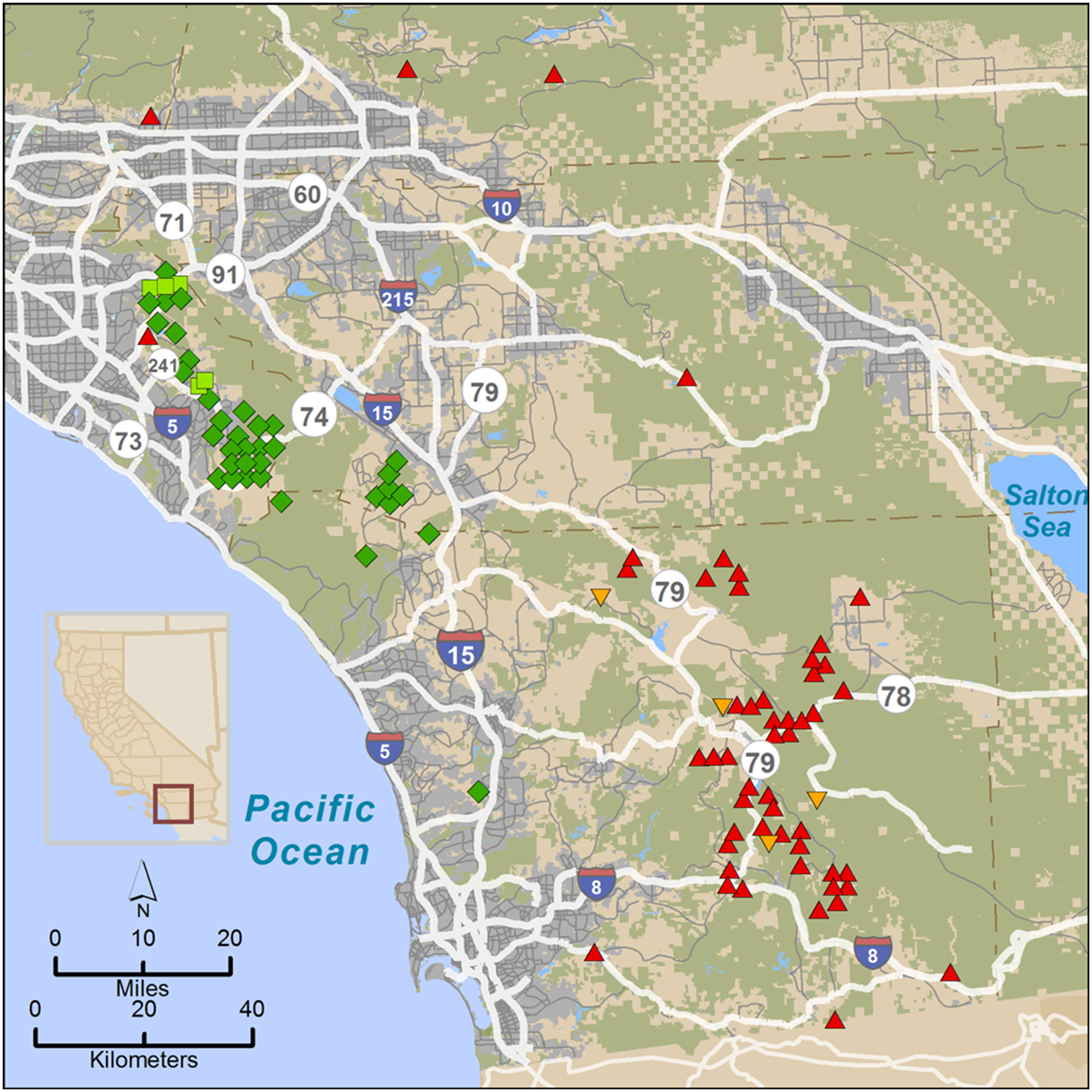 Mlf Feature: Fractured Genetics - Mountain Lions In California Map
