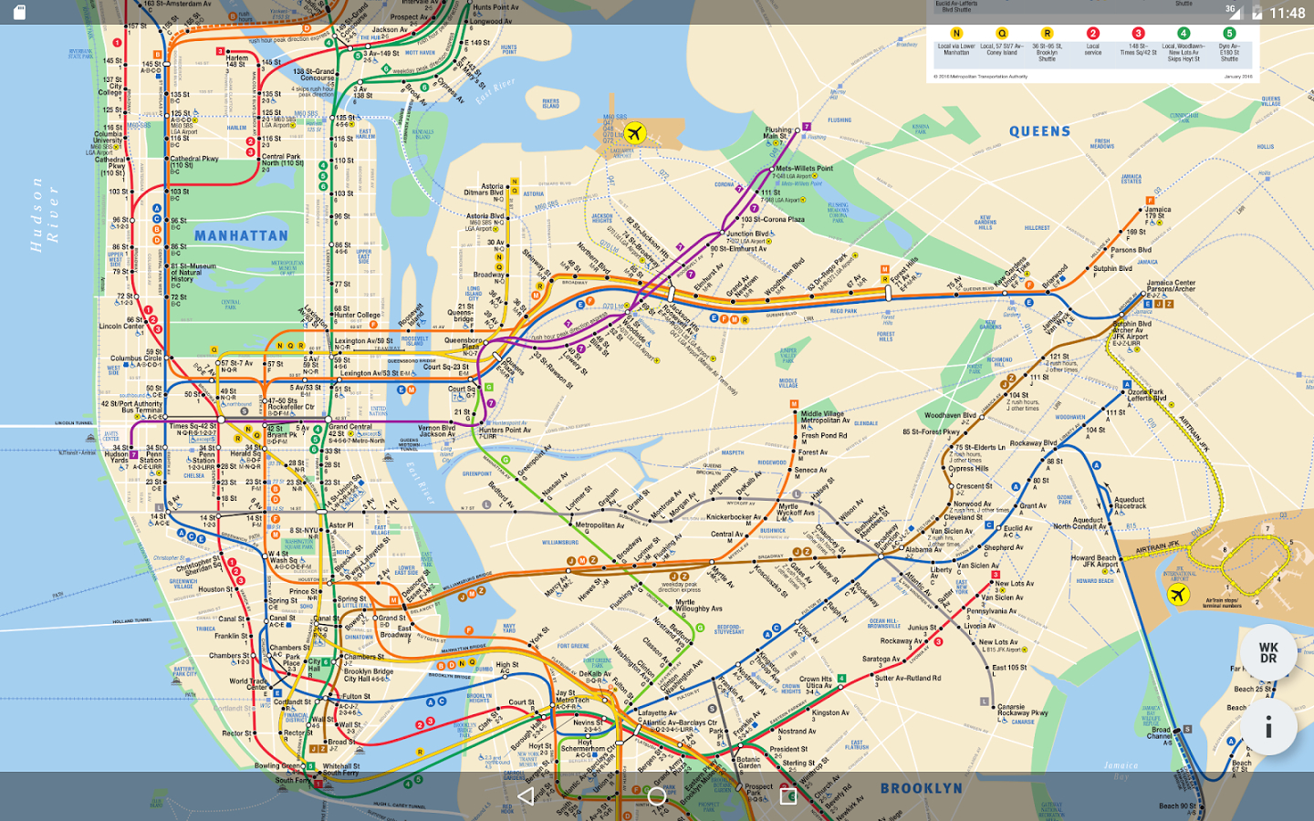 Mobile-Large-Printable-Nyc-Subway-Map - Manhattan Subway Map Printable