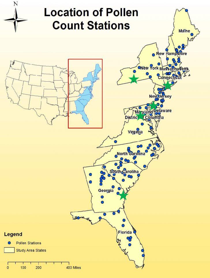Florida Pollen Map