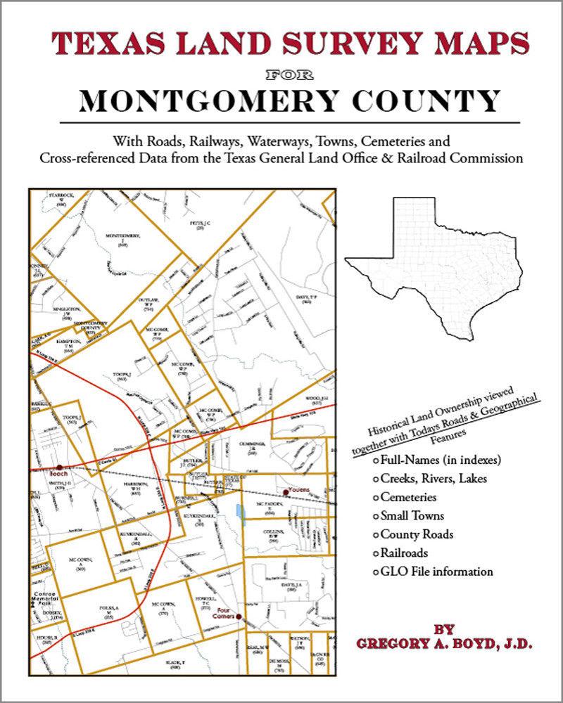 Montgomery County Texas Land Survey Maps Genealogy History - Texas Land Survey Maps