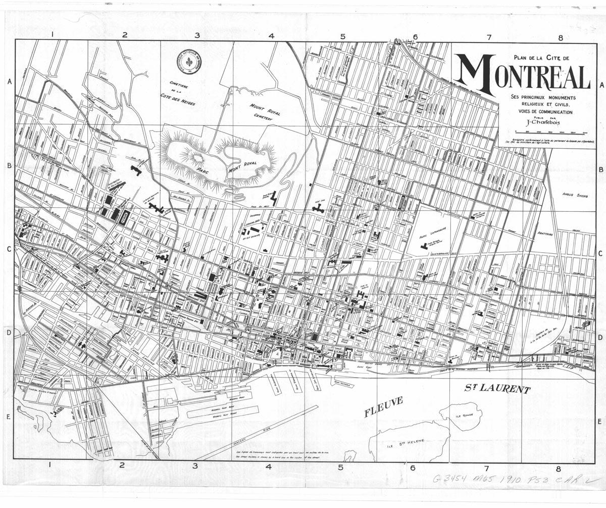Montreal Maps - Printable Street Map Of Montreal