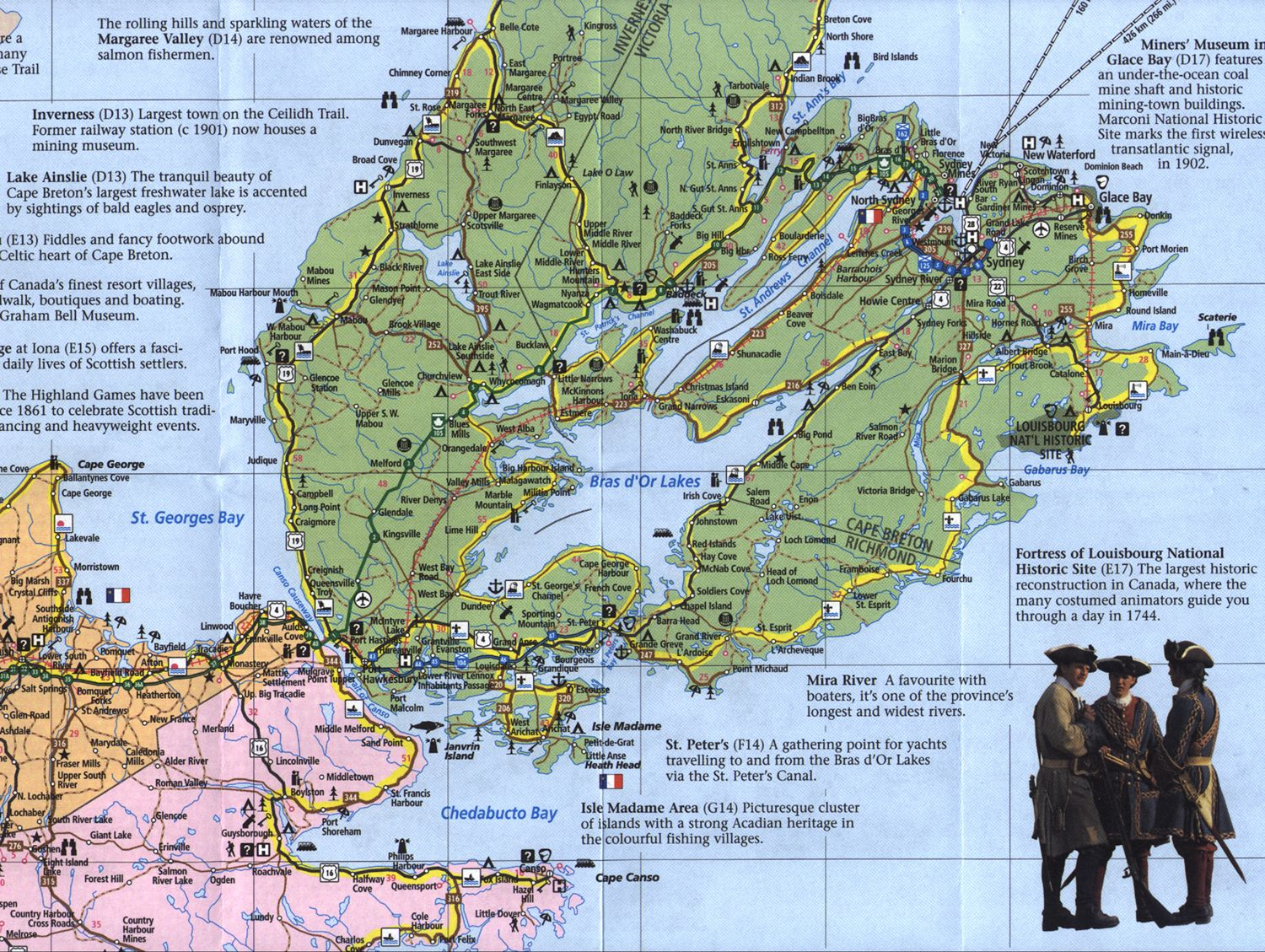 More Detailed Map Showing Isle Madame And Lennox Passage, And A - Printable Map Of Cape Breton Island