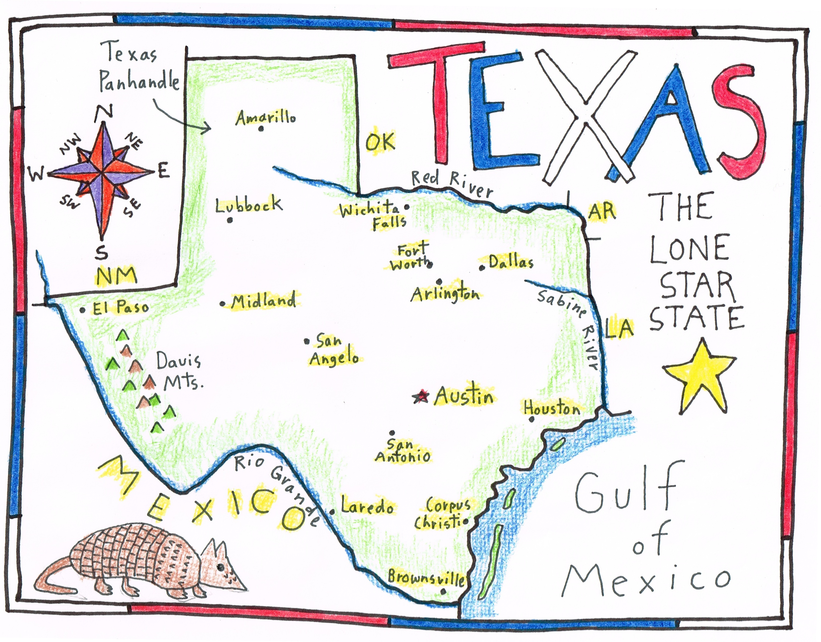More Fun With A Sketch Map Of Texas - Maps For The Classroom - Fort Davis Texas Map