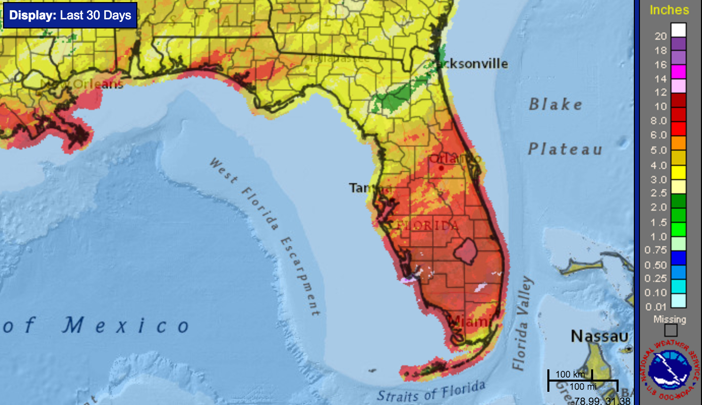 More Rainfall Records Likely To Fall In February - Uf Weather Center - Florida Weather Map Today