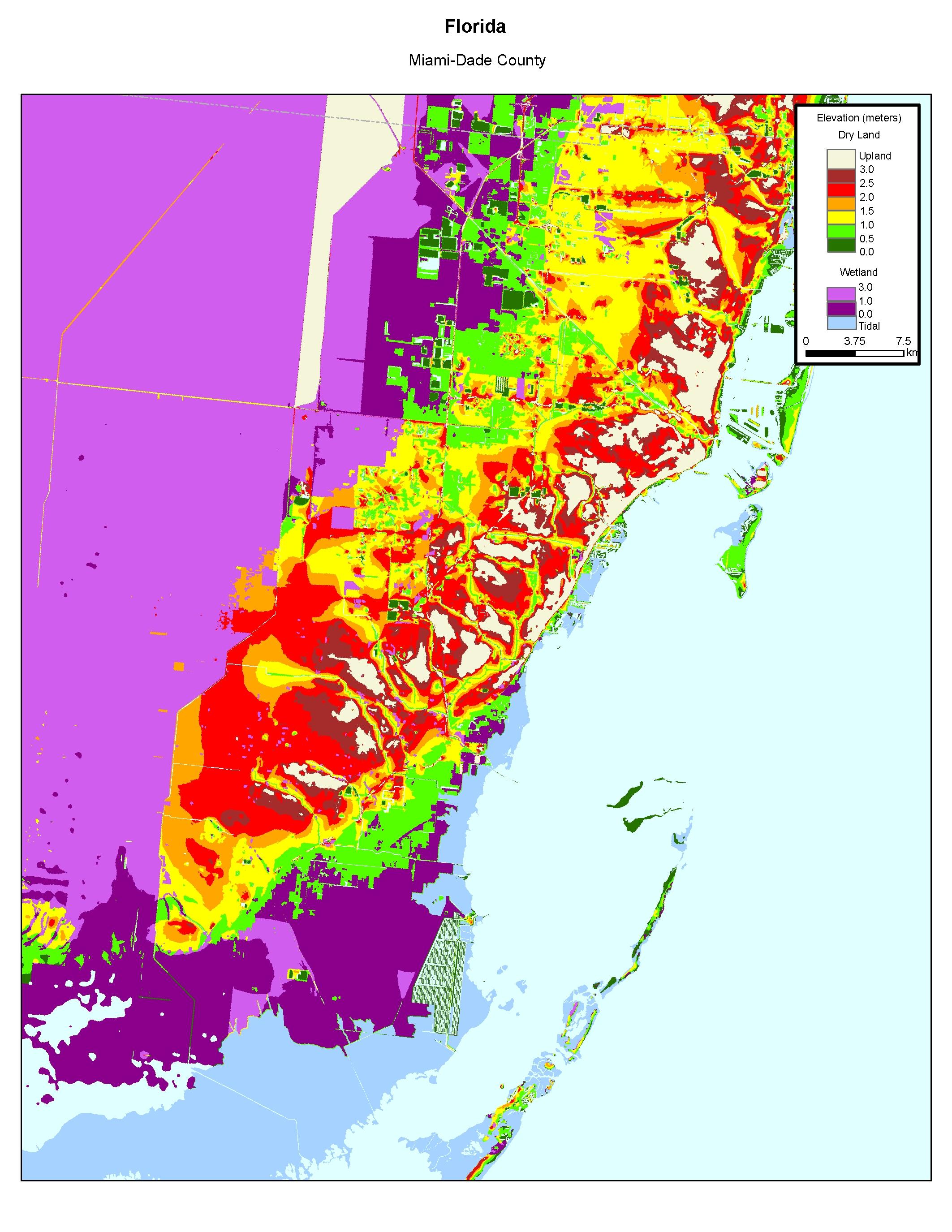 More Sea Level Rise Maps Of Florida's Atlantic Coast - Florida Elevation Map By Address