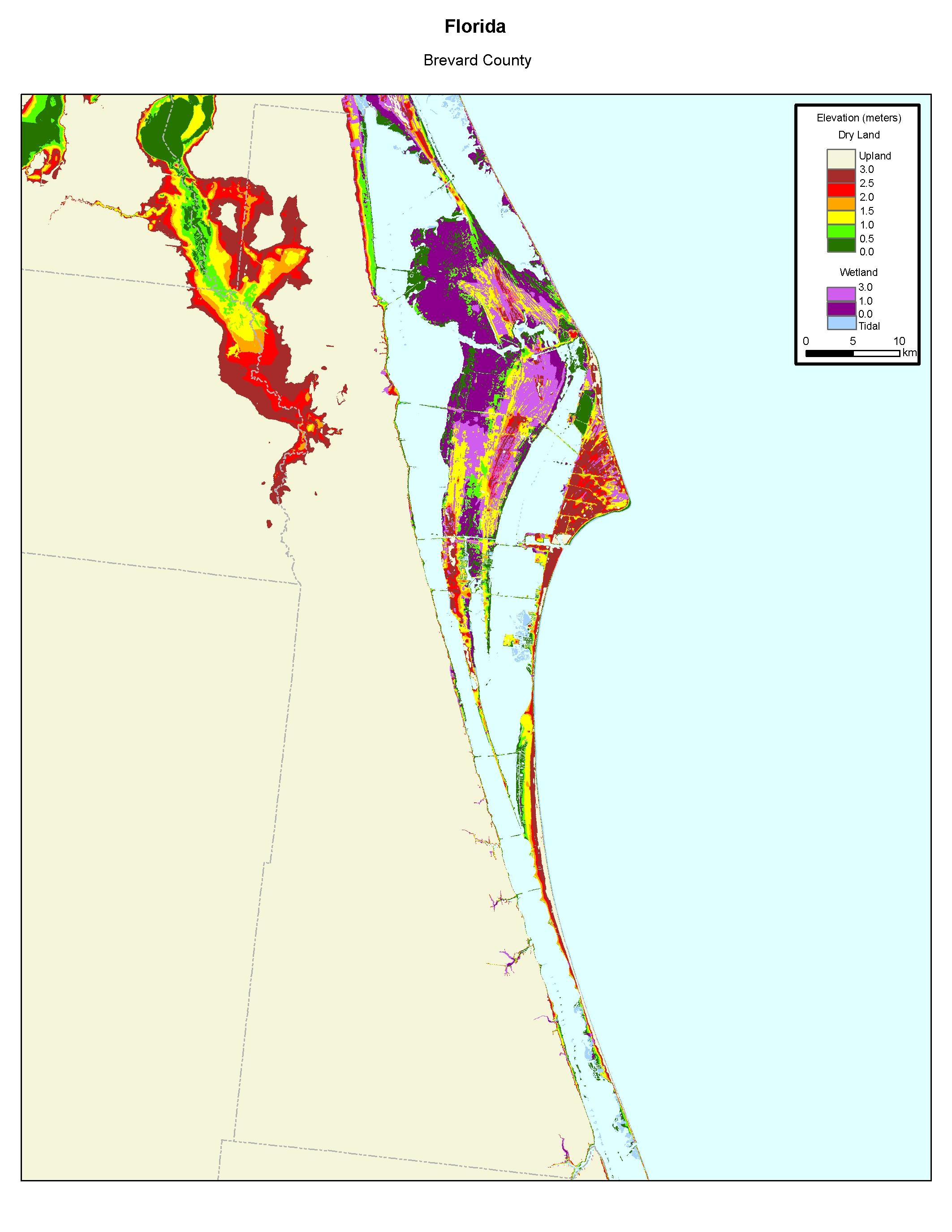 More Sea Level Rise Maps Of Florida's Atlantic Coast - Florida Elevation Map By County