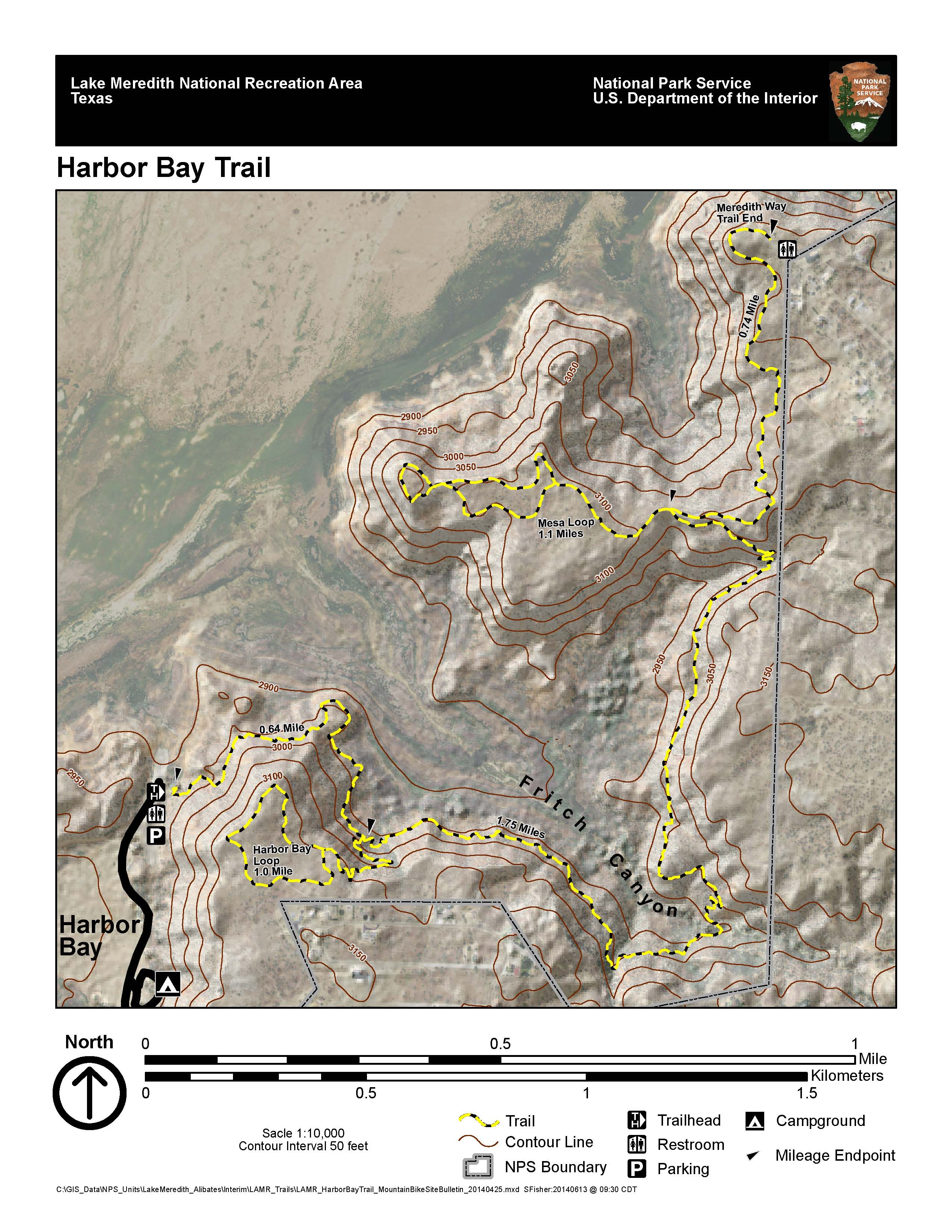 Mountain Biking - Lake Meredith National Recreation Area (U.s. - Fritch Texas Map