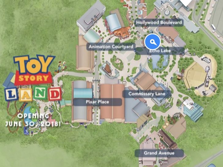 Toy Story Land Florida Map