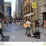 Musician On The Florida Street In Buenos Aires Editorial Image   Florida Street Buenos Aires Map