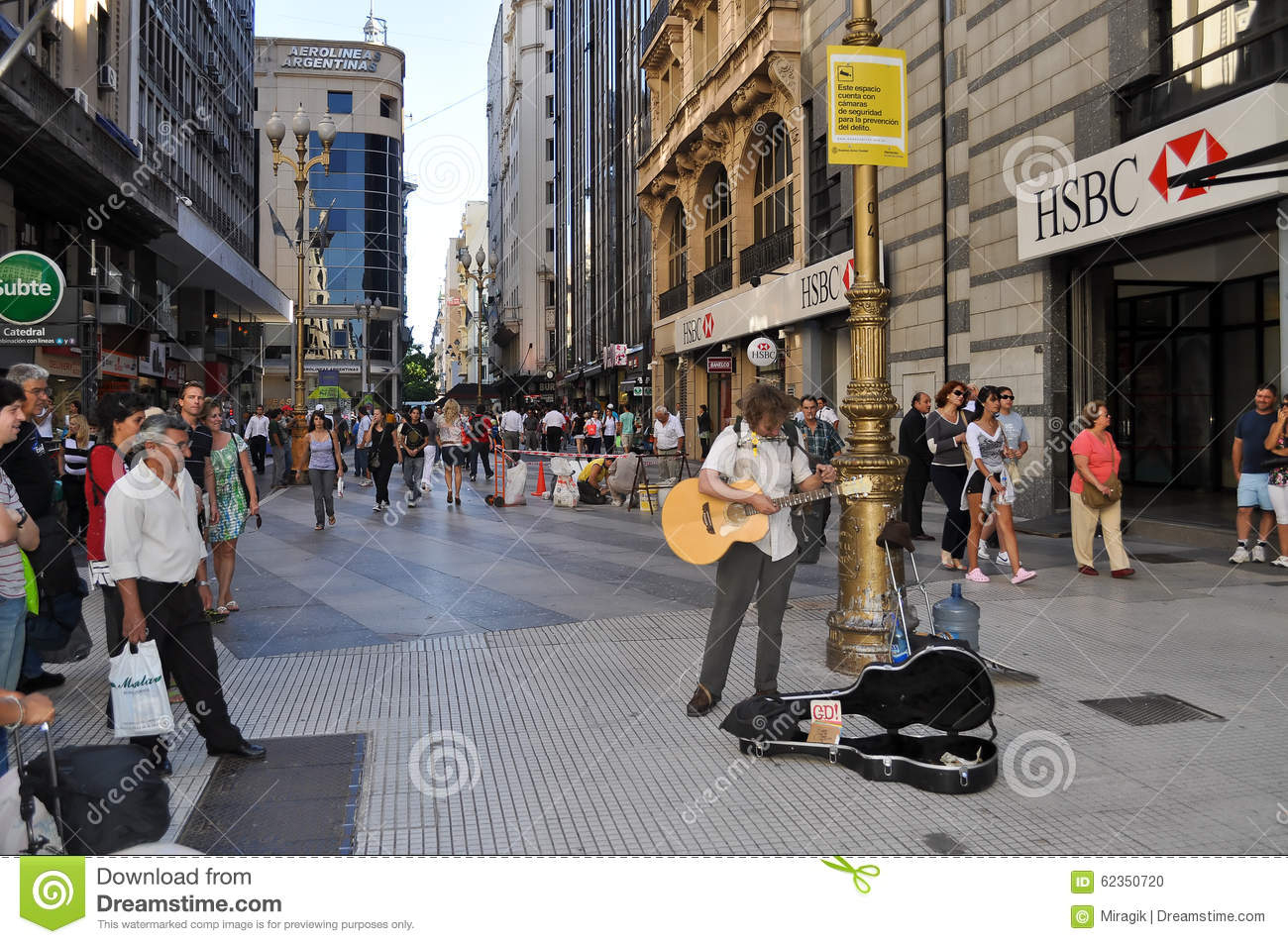 Musician On The Florida Street In Buenos Aires Editorial Image - Florida Street Buenos Aires Map