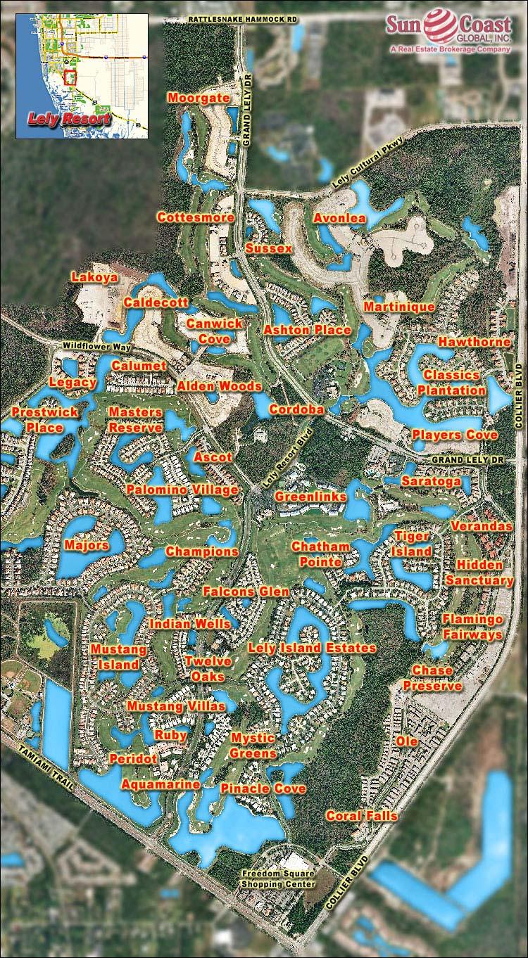 Mustang Island At Lely Resort Real Estate Naples Florida Fla Fl - Lely Resort Naples Florida Map