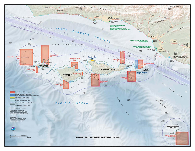 My Favorite Santa Cruz Island Halibut Spot | Otto Gasser - Southern California Fishing Map