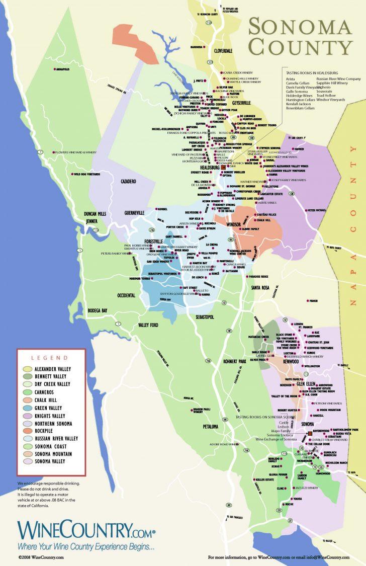 Sonoma Valley California Map