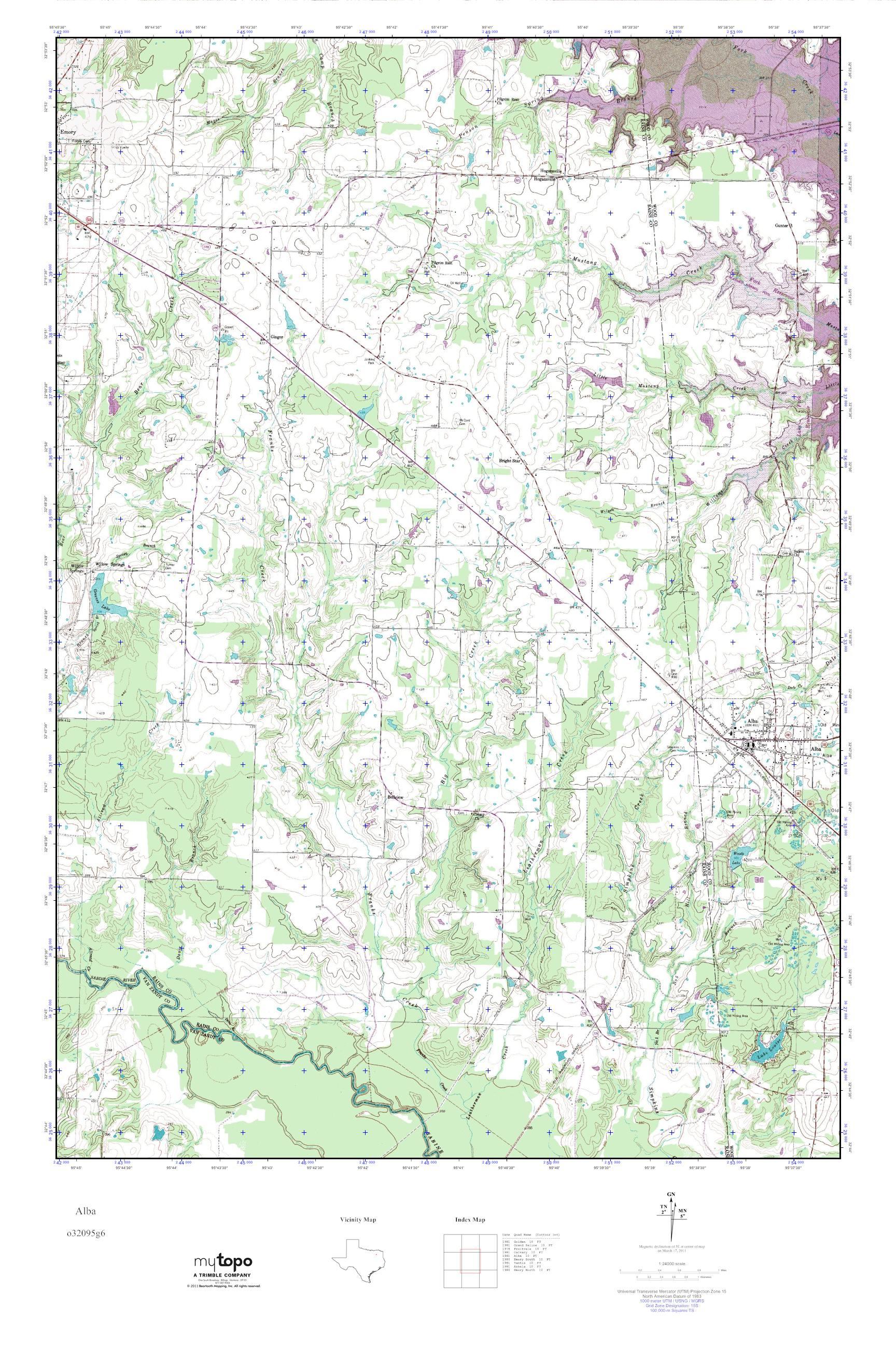 Mytopo Alba, Texas Usgs Quad Topo Map - Alba Texas Map