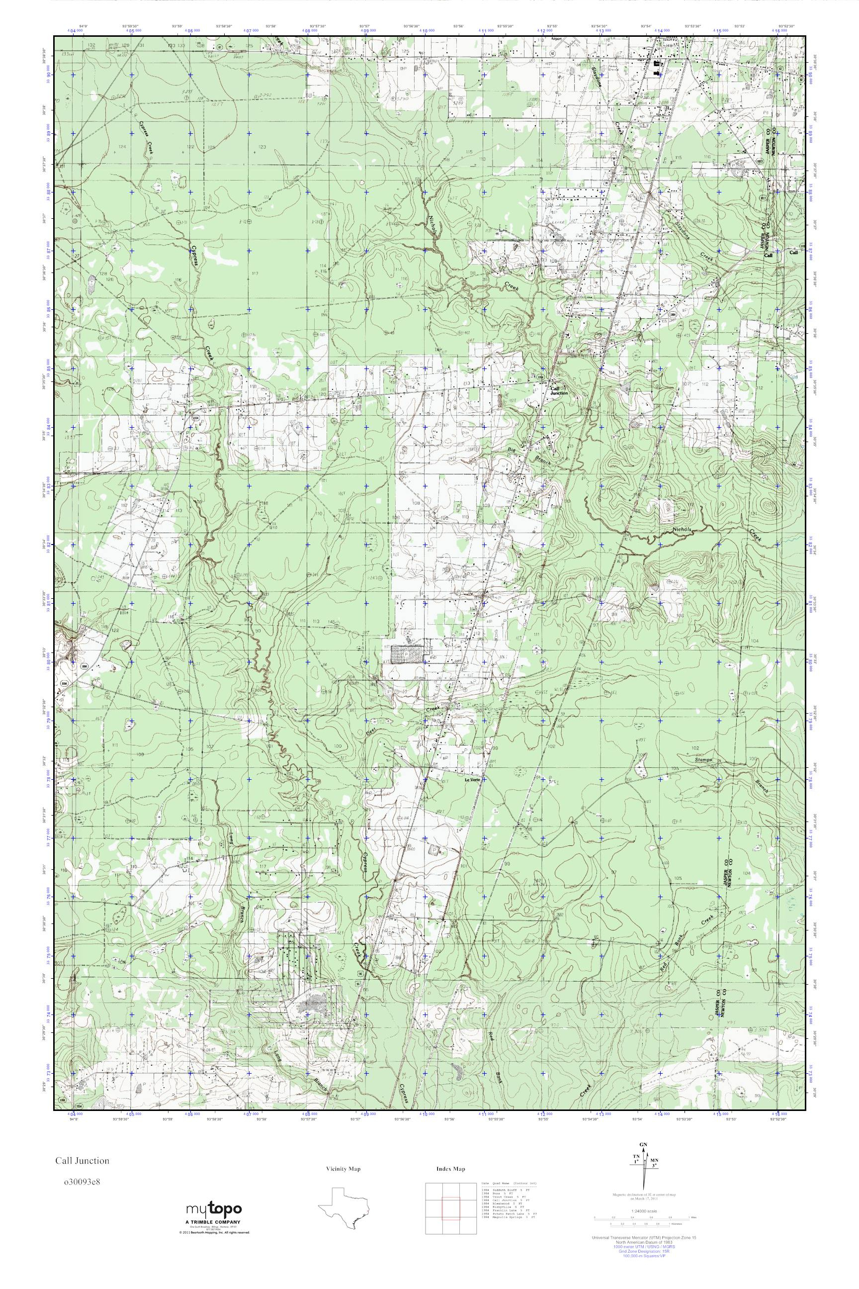 Mytopo Call Junction, Texas Usgs Quad Topo Map - Junction Texas Map