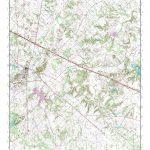 Mytopo Canton, Texas Usgs Quad Topo Map   Canton Texas Map
