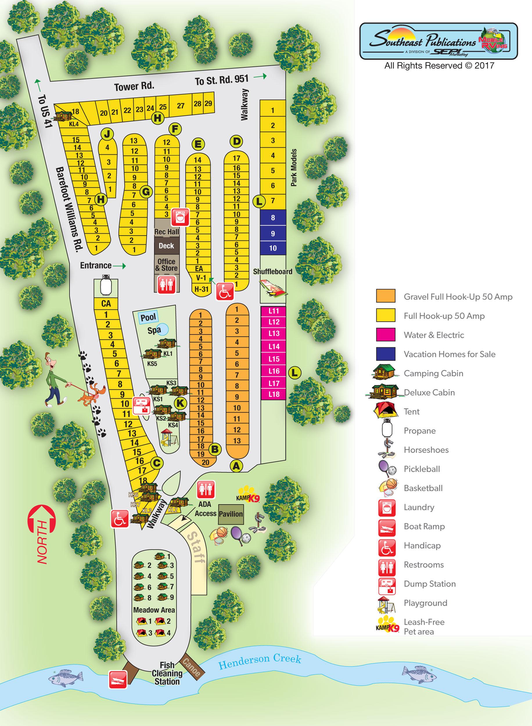 Naples, Florida Campground | Naples / Marco Island Koa - Koa Florida Map