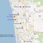 Naples Golf Communities Map   Vanderbilt Beach Florida Map