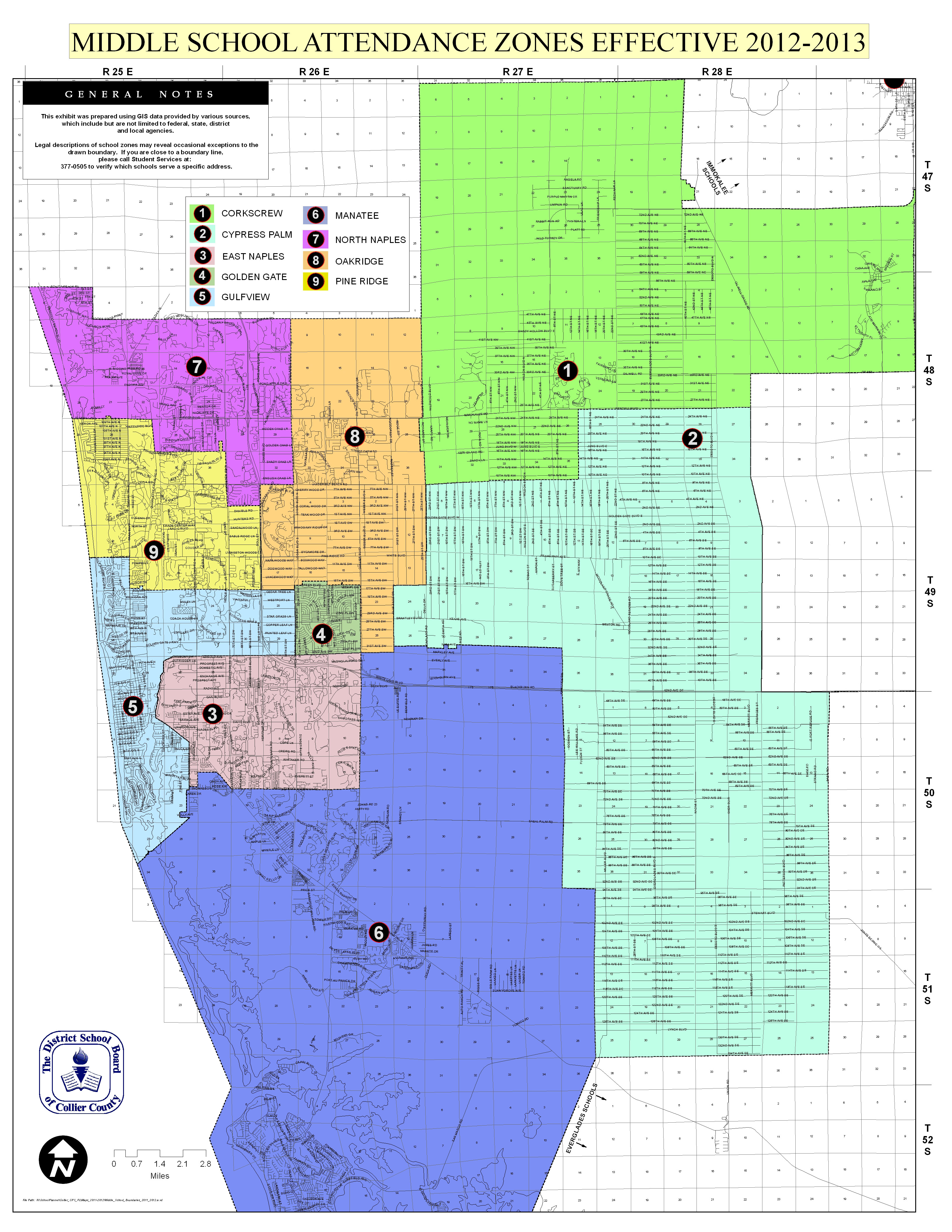 Naples School Districts Real Estate - Naples Florida Flood Map