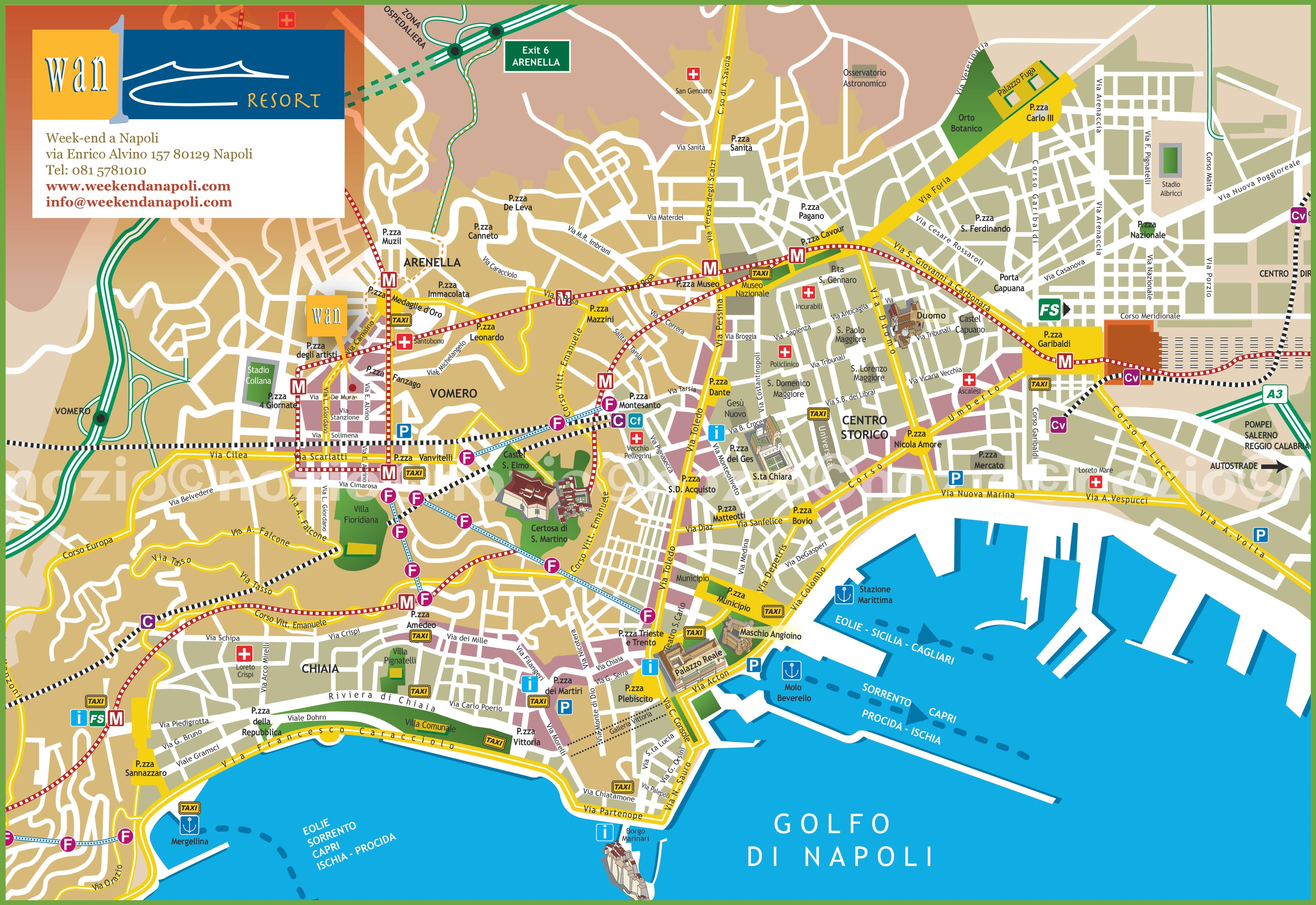 Naples Tourist City Centre Map - Street Map Of Naples Florida