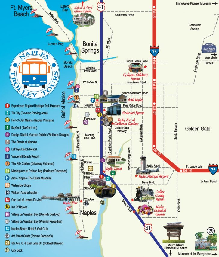 Map Of Naples Florida And Surrounding Area