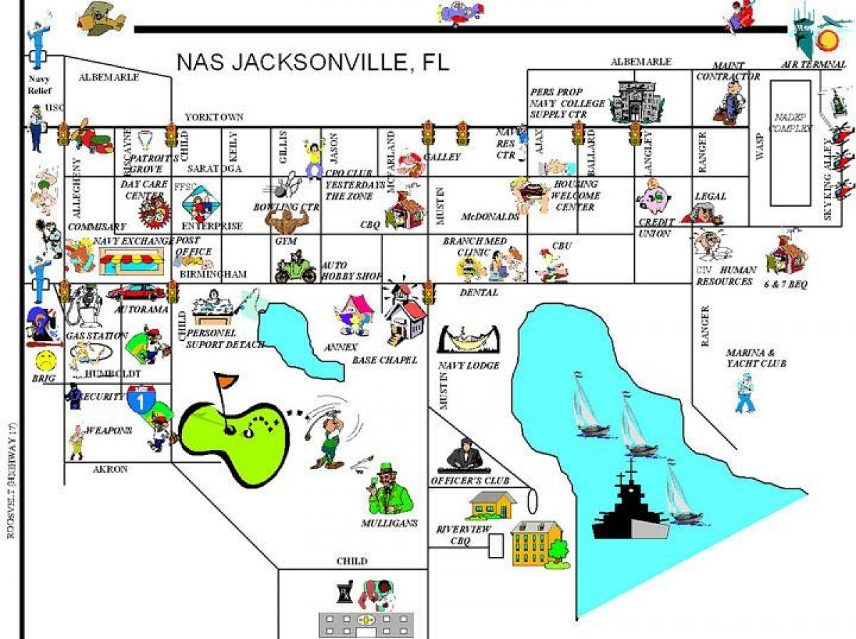 Nas Jacksonville Map - Nas Jacksonville Base Map (Florida - Usa) - Florida Navy Bases Map