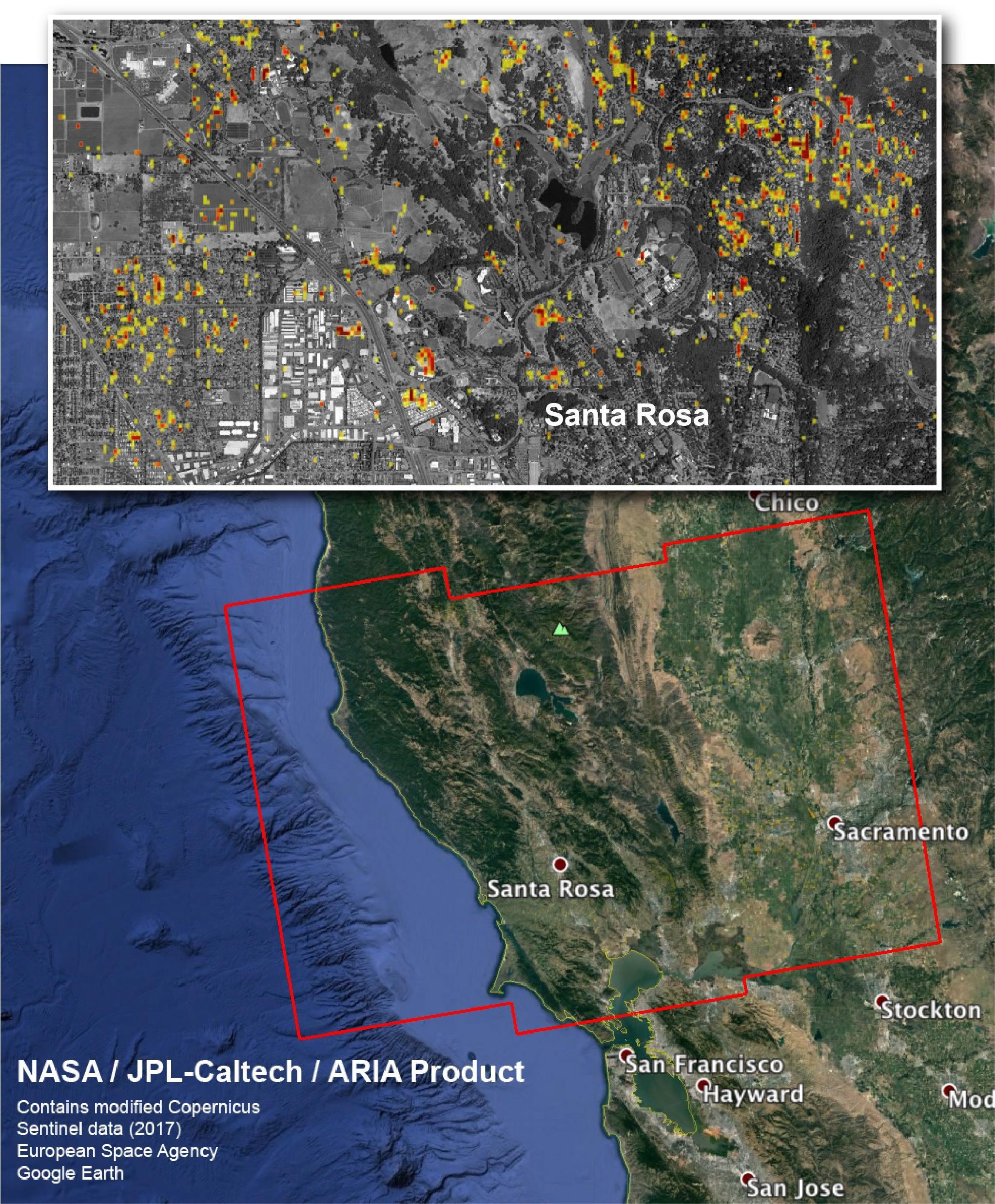 Nasa Damage Map Aids California Wildfire Response - Map Of California Fire Damage