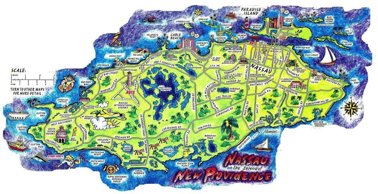 Nassau Bahamas Map   Concerts And Places I've Seen In 2019   Bahamas - Printable Map Of Nassau Bahamas