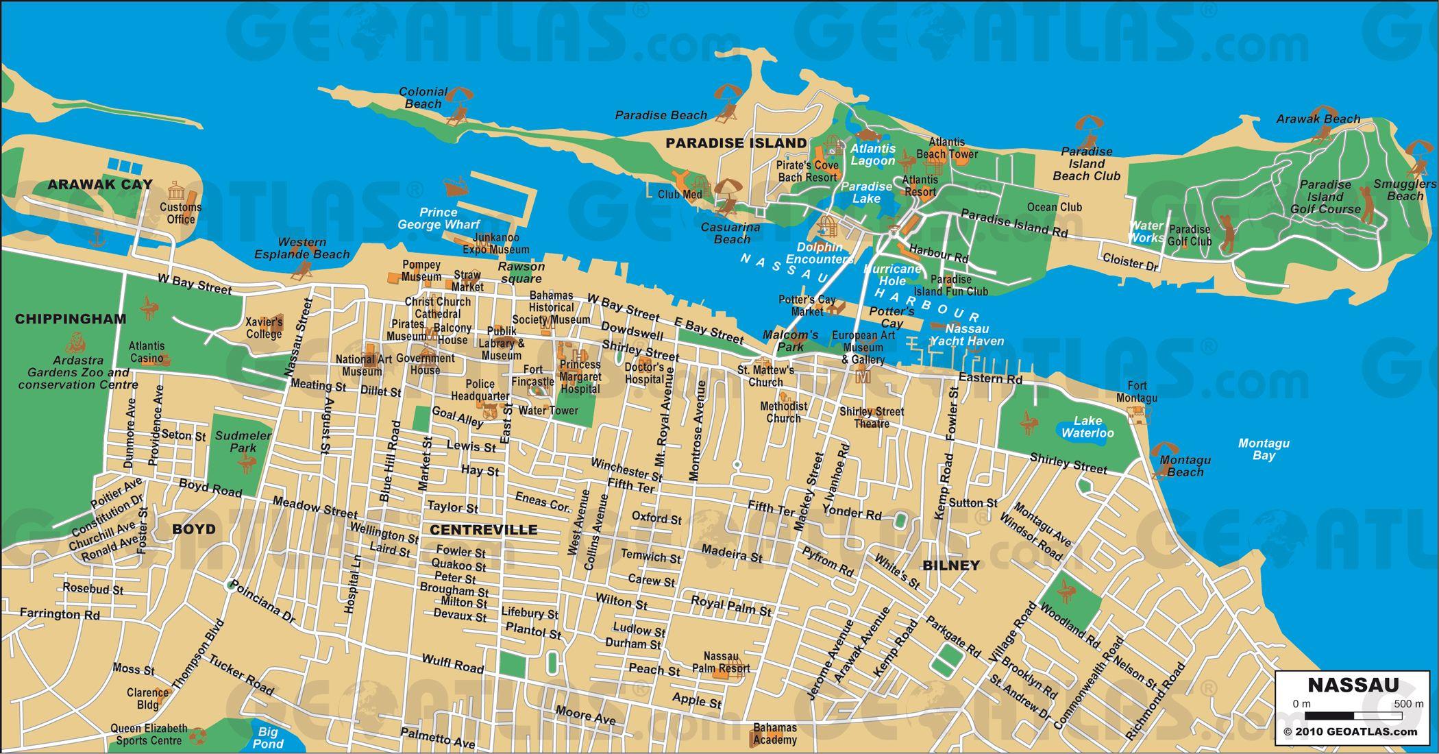Nassau Cruise Port Guide - Cruiseportwiki   Disney Cruise Line - Printable Map Of Nassau Bahamas