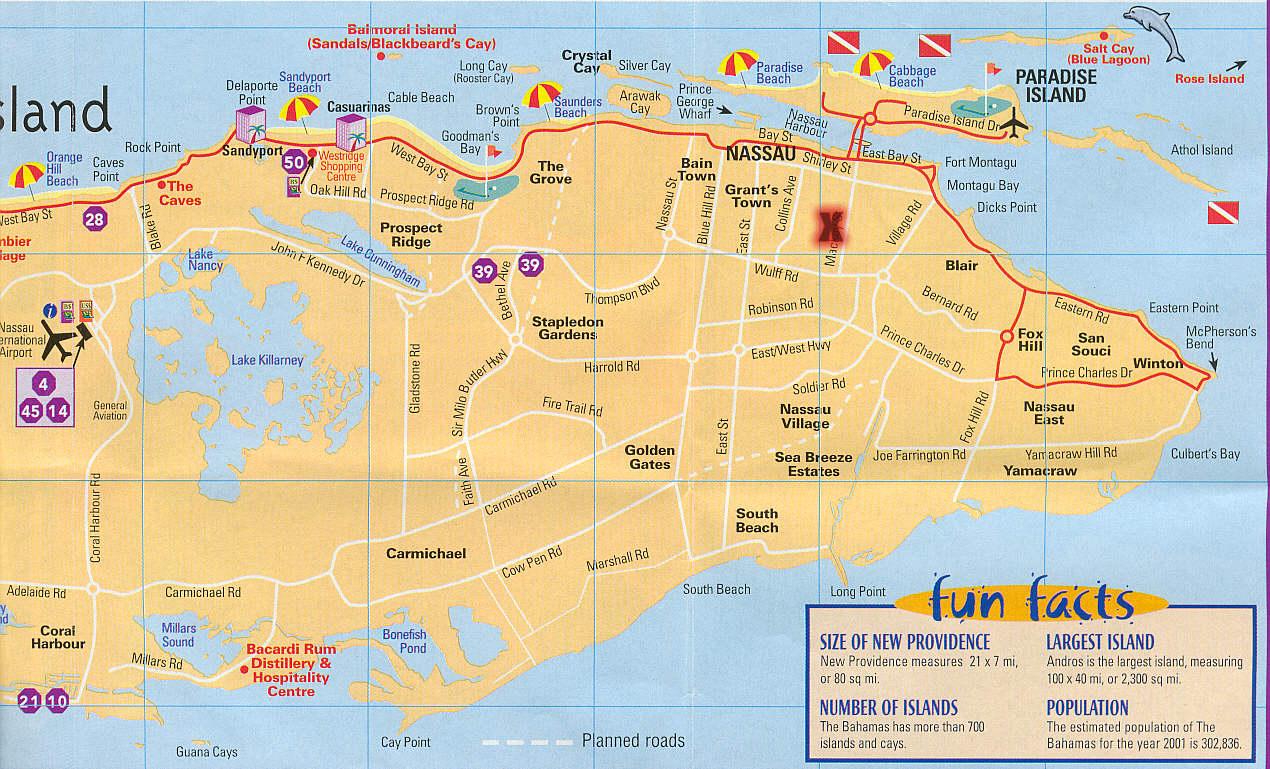 Nassau Map - Falsomesias - Printable Map Of Nassau Bahamas
