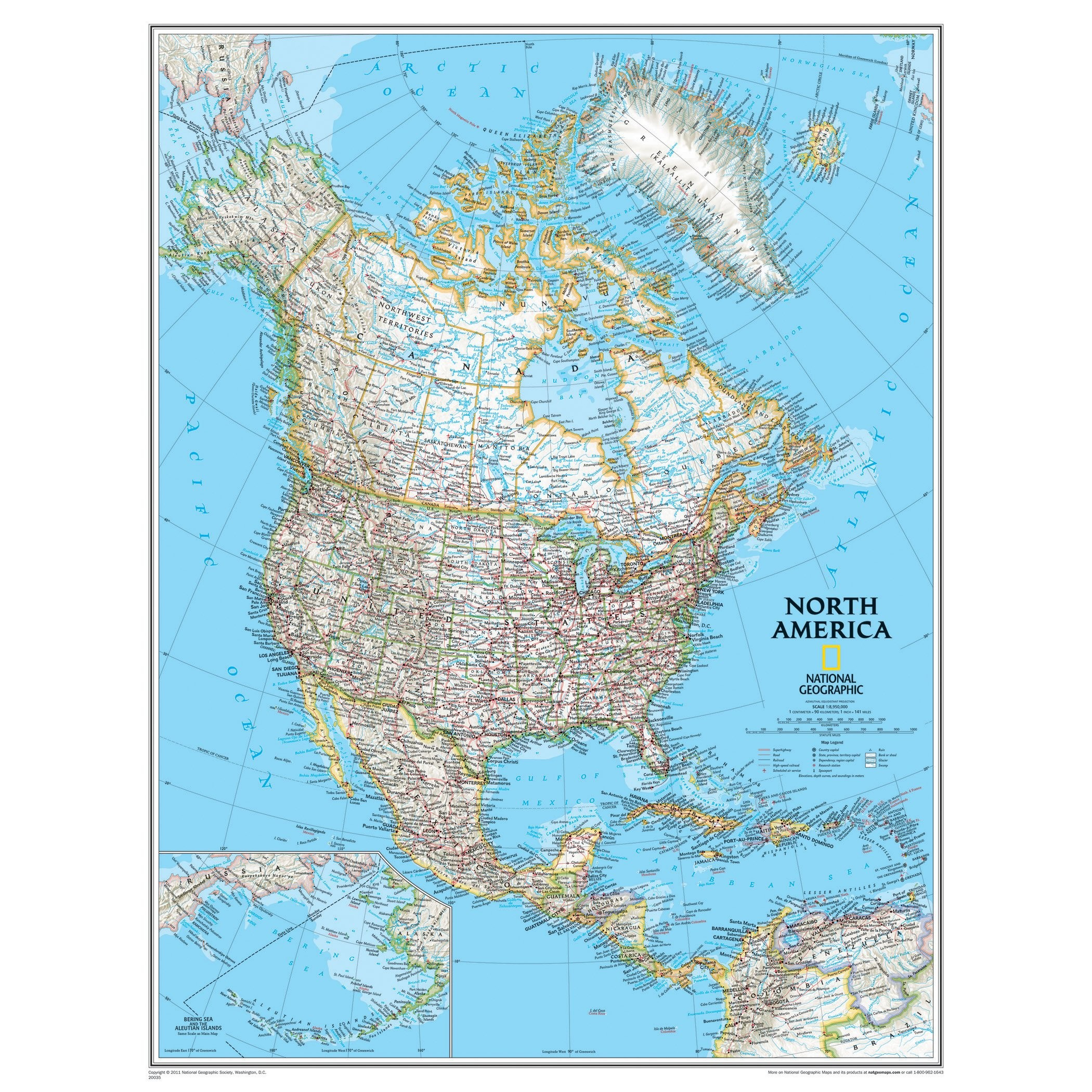 National Geographic Us Map Printable Best North America Classic - National Geographic Printable Maps