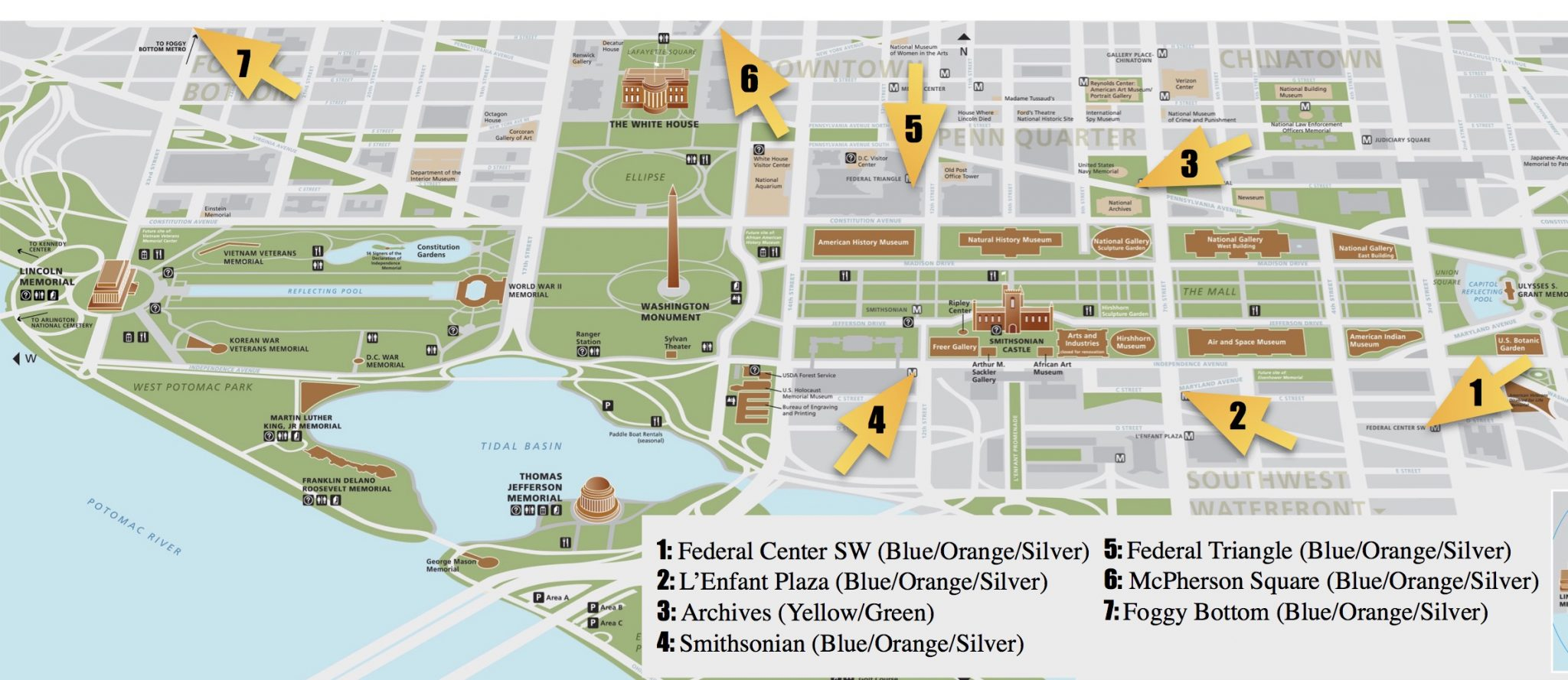 National Mall Guide And Things To Do | Free Toursfoot - Printable Walking Map Of Washington Dc